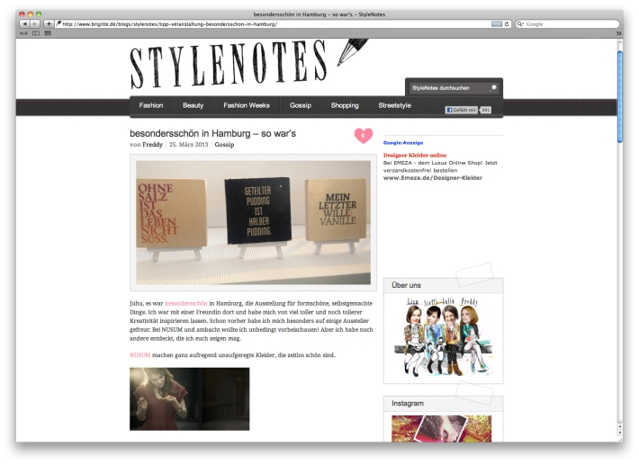stylenotes